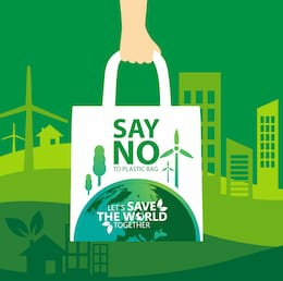 Say no to plastic bags save Earth