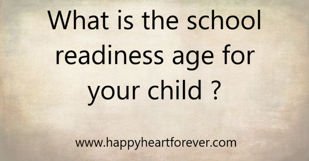 . It is easy for parents to answer this. School readiness exists if your answer to these clues is affirmative: