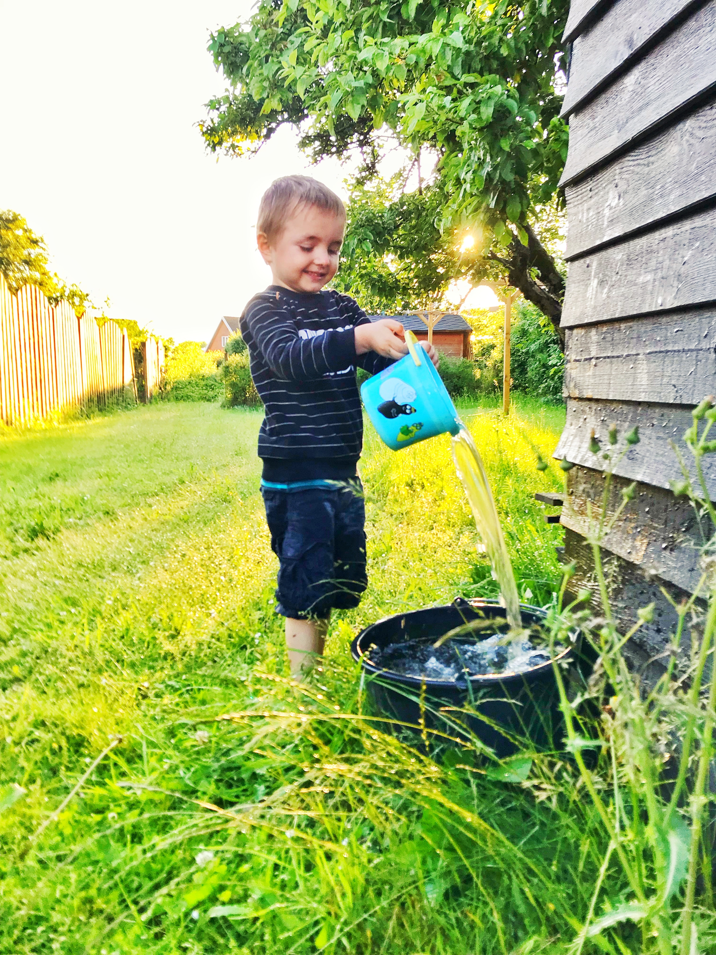 """Children need to play, but this doesn't require toys. They will explore their environment and examine articles that are interesting to them- from pots to pans to blocks."""""""